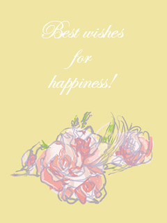 Best wishes for happiness!