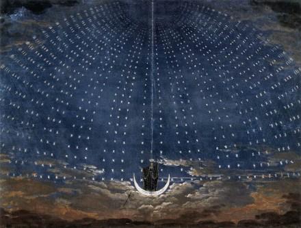 Karl Friedrich Schinkel - Stage set for Mozart's Magic Flute